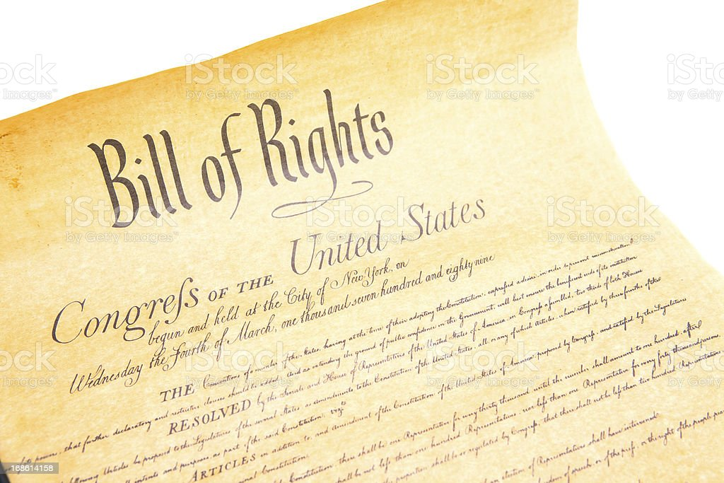 Bill of Rights Congres the Untied States stock photo