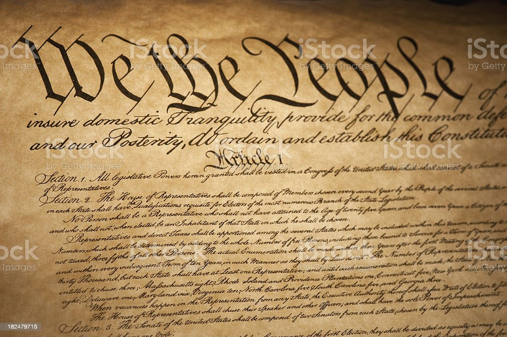 Bill of Rights stock photo