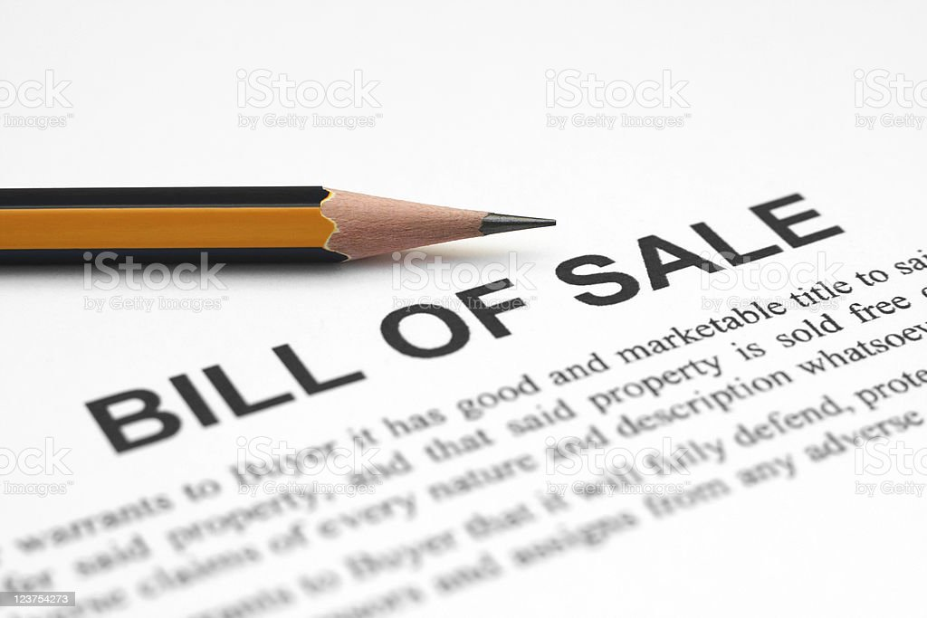 Bill of sale royalty-free stock photo