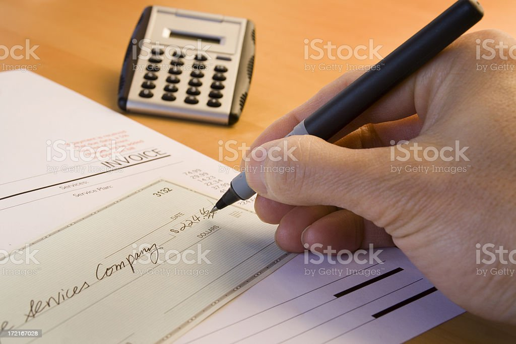 Bill Paying Headache royalty-free stock photo