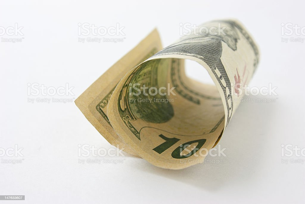 10 bill stock photo