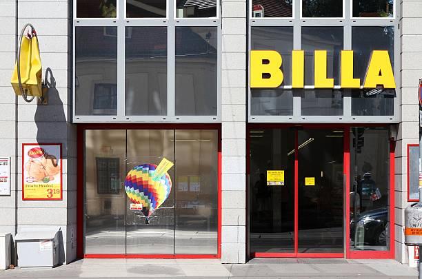 billa supermarkt - rewe supermarket stock-fotos und bilder