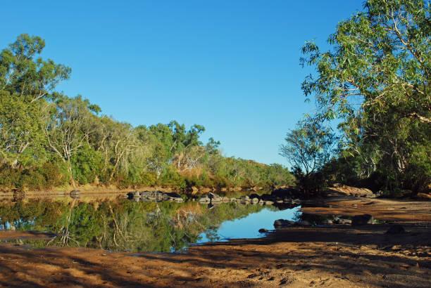 Billabong in Western Australia stock photo