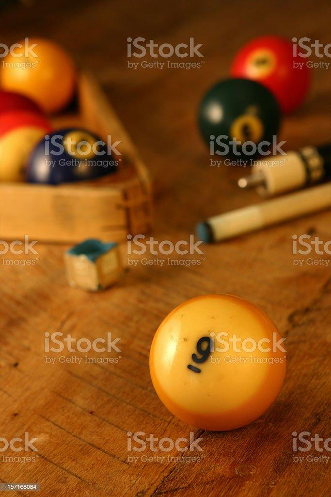 Billards - 9 Ball stock photo