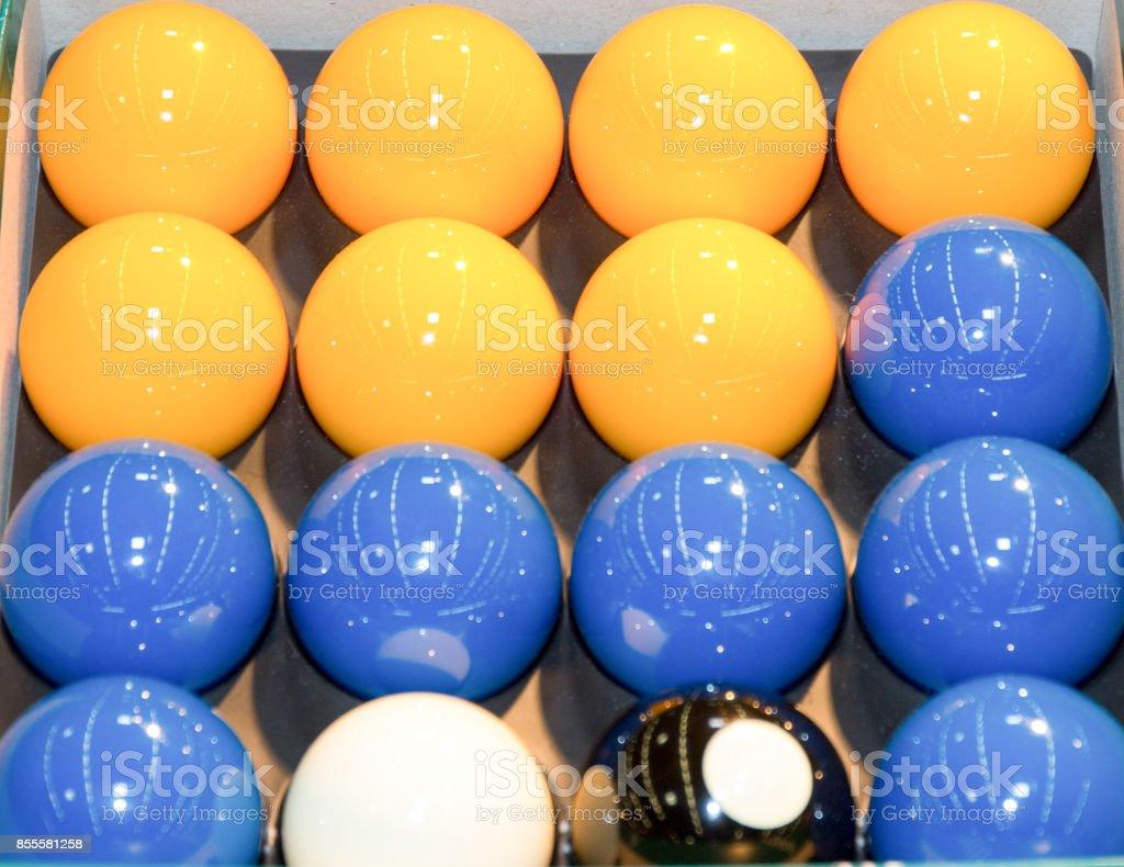 Billards pool game. Color balls stock photo