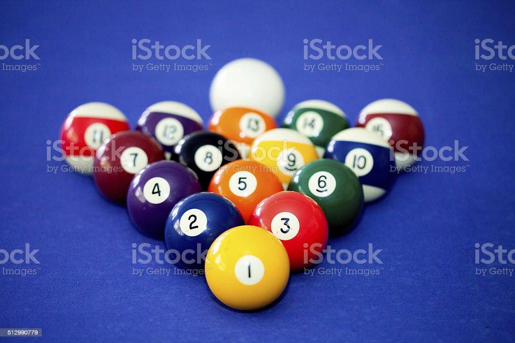 Billards pool game stock photo