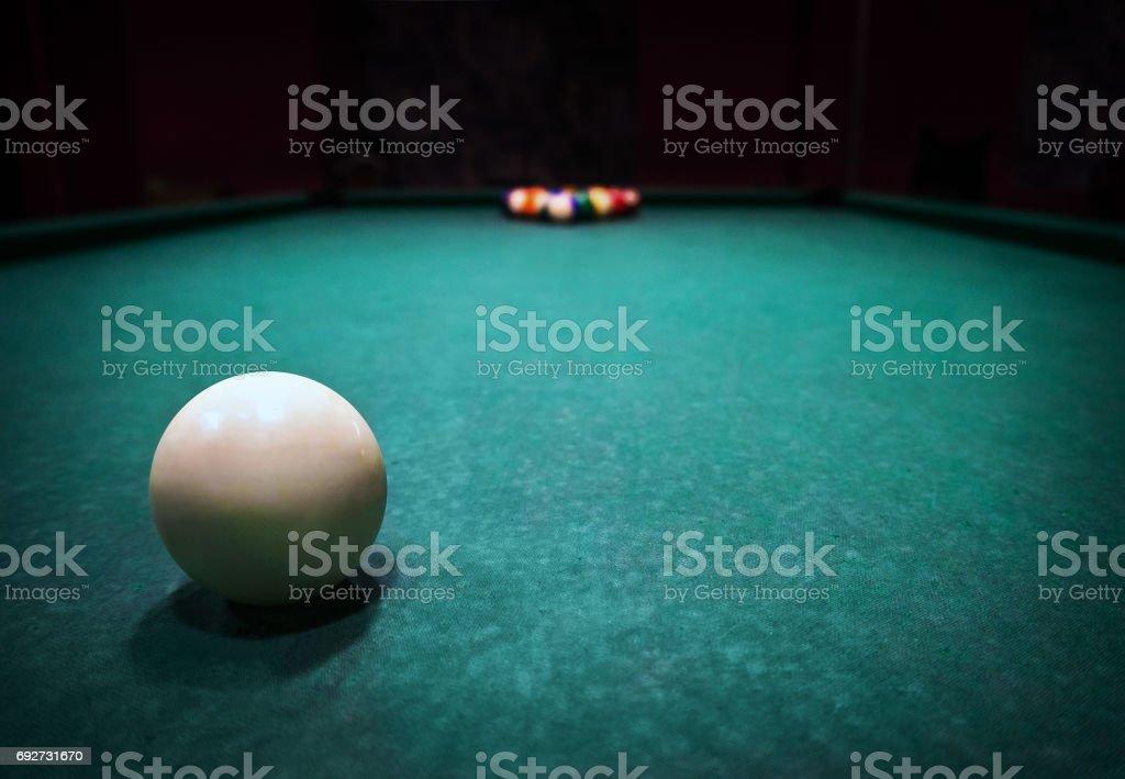 Billards pool game. stock photo