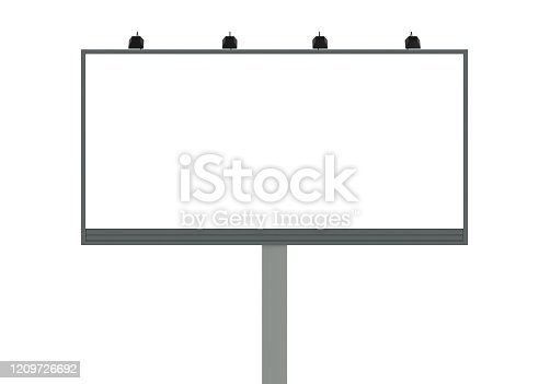 billboard, isolated, 3d, rendering