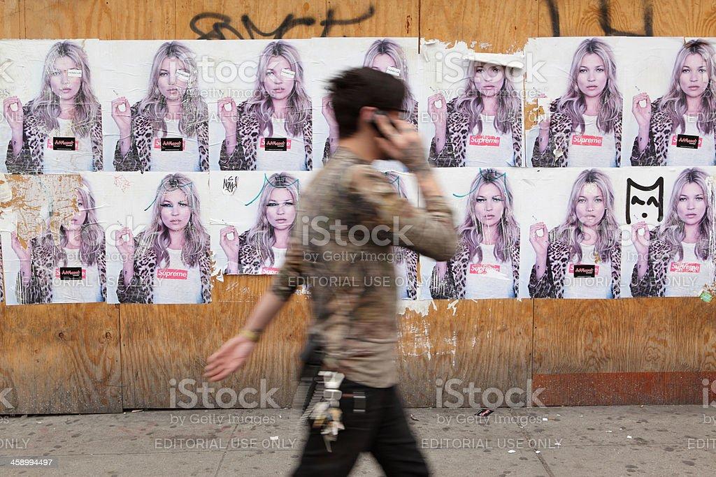 NYC billboard ad for Supreme skate fashion stock photo