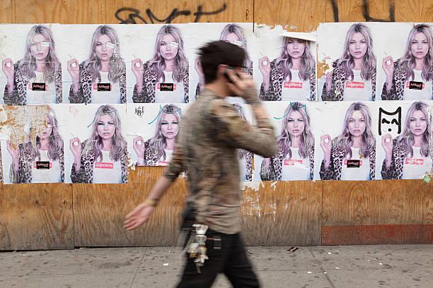 NYC billboard Werbung für ein skate-fashion – Foto