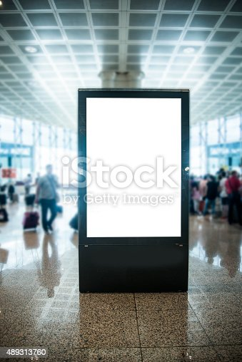 istock Billboard at airport 489313760