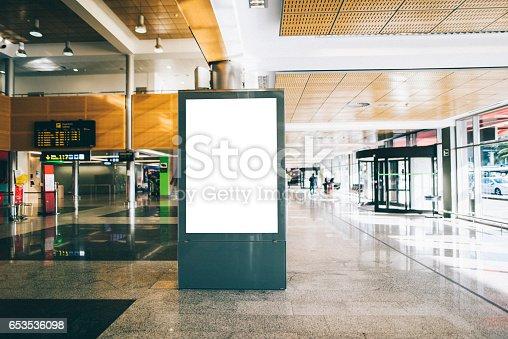 istock Billboard at airport 653536098
