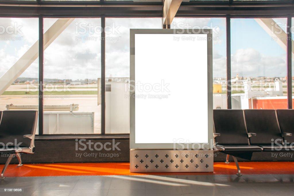Billboard at airport stock photo