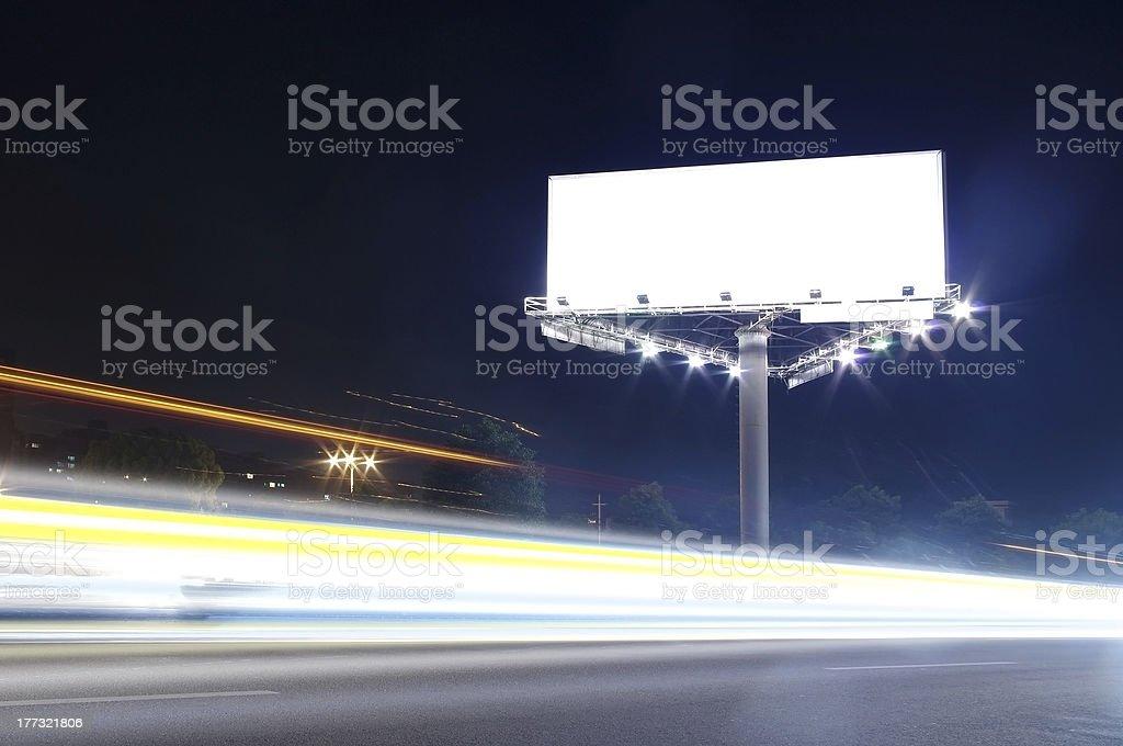 Billboard at night royalty-free stock photo