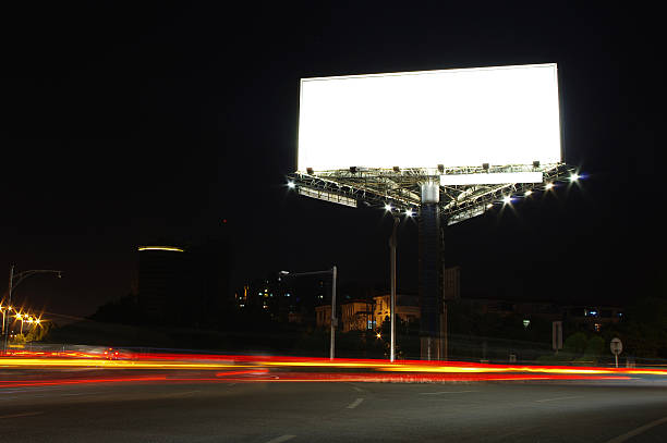 Billboard at night Billboard at night electronic billboard stock pictures, royalty-free photos & images