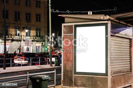 istock Billboard at street at night 915807244