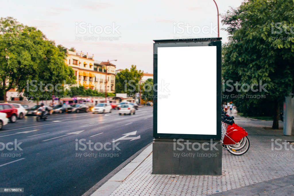 Billboard at street - foto stock
