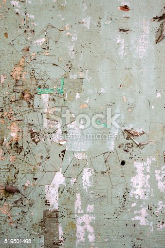 istock billboard Background with Old Torn Posters 519501468
