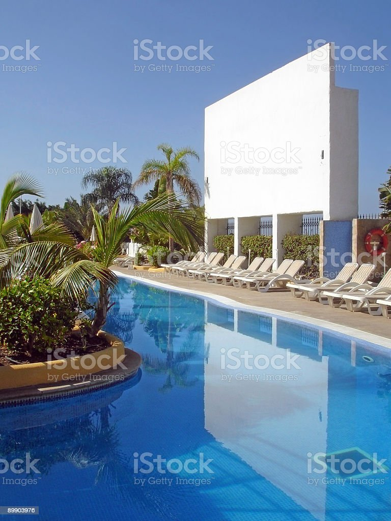 Billboard by the pool royalty-free stock photo