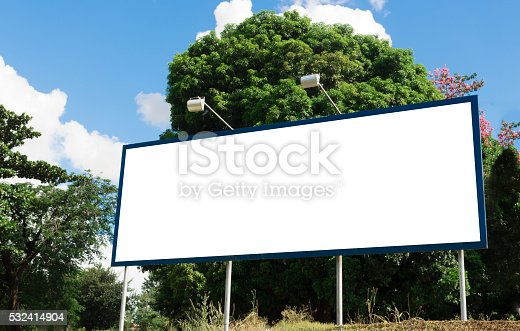 istock Billboard - Empty billboard in a rural location 532414904