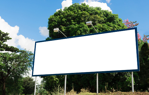 istock Billboard - Empty billboard in a rural location 532414904