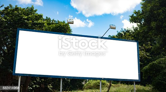 istock Billboard - Empty billboard in a rural location 532414958