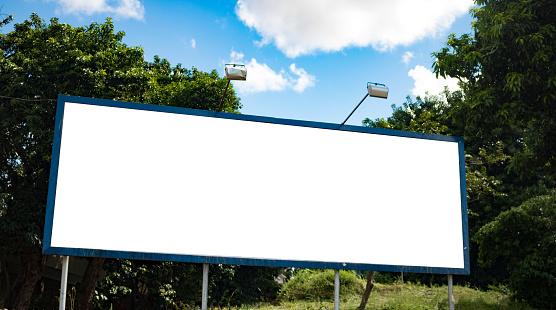 istock Billboard - Empty billboard in a rural location 532414958