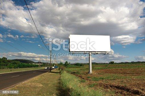 istock Billboard - Empty billboard in a rural location 532415062