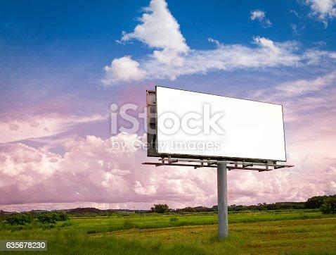 istock Billboard - Empty billboard in a rural location 635678230