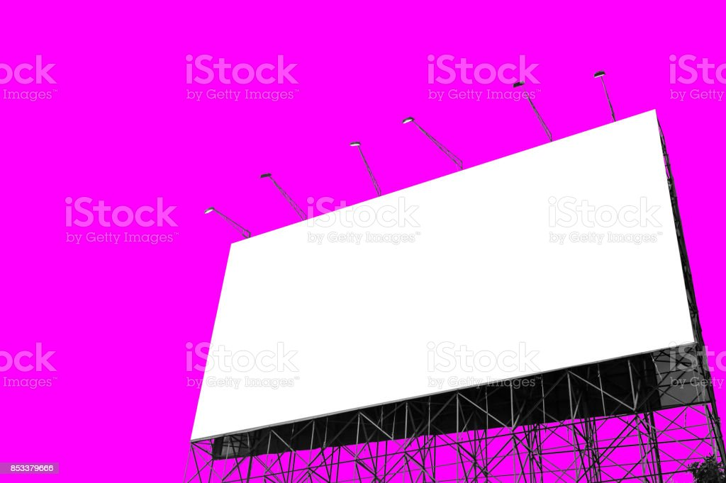 billboard for adverting isolated on magenta screen for vdo production stock photo
