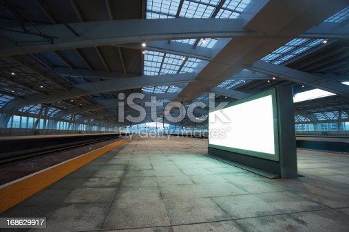 billboard for advertisement in railway station