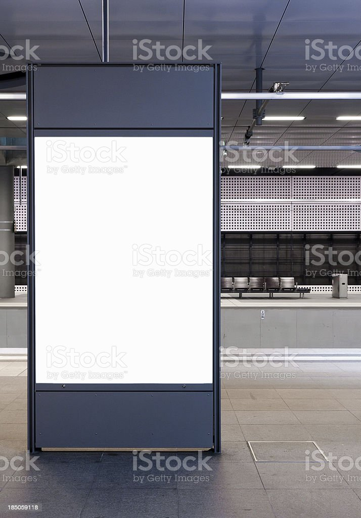 Billboard for your own picture stock photo