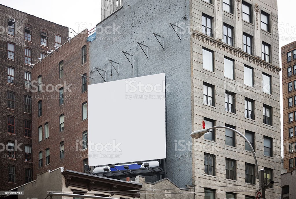 Billboard in New York City stock photo
