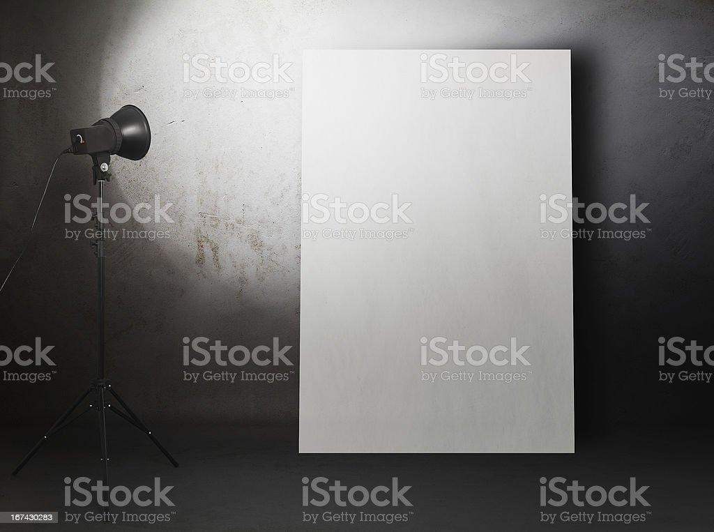 billboard in old studio royalty-free stock photo