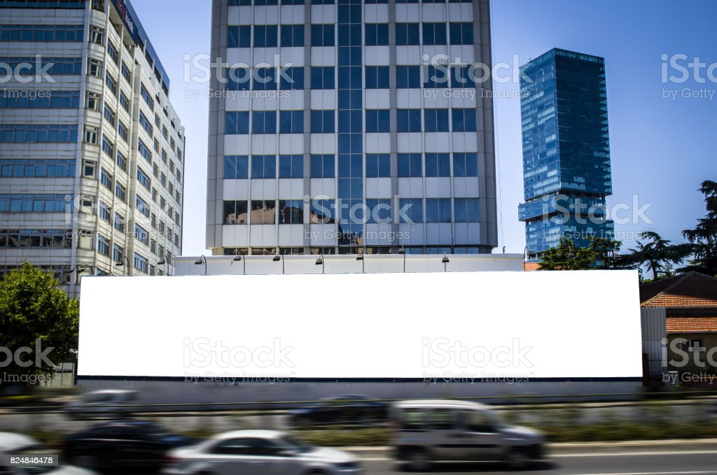 billboard in street stock photo