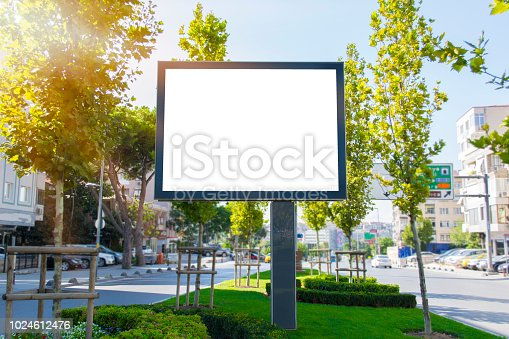 istock Billboard in the city, motivation, poster, quote. 1024612476