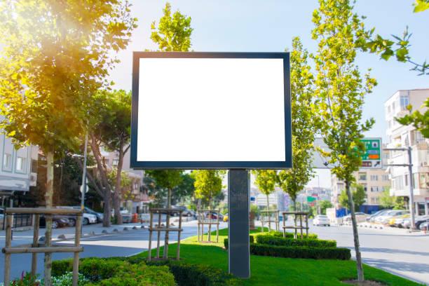 billboard in the city, motivation, poster, quote. - modello dimostrativo foto e immagini stock
