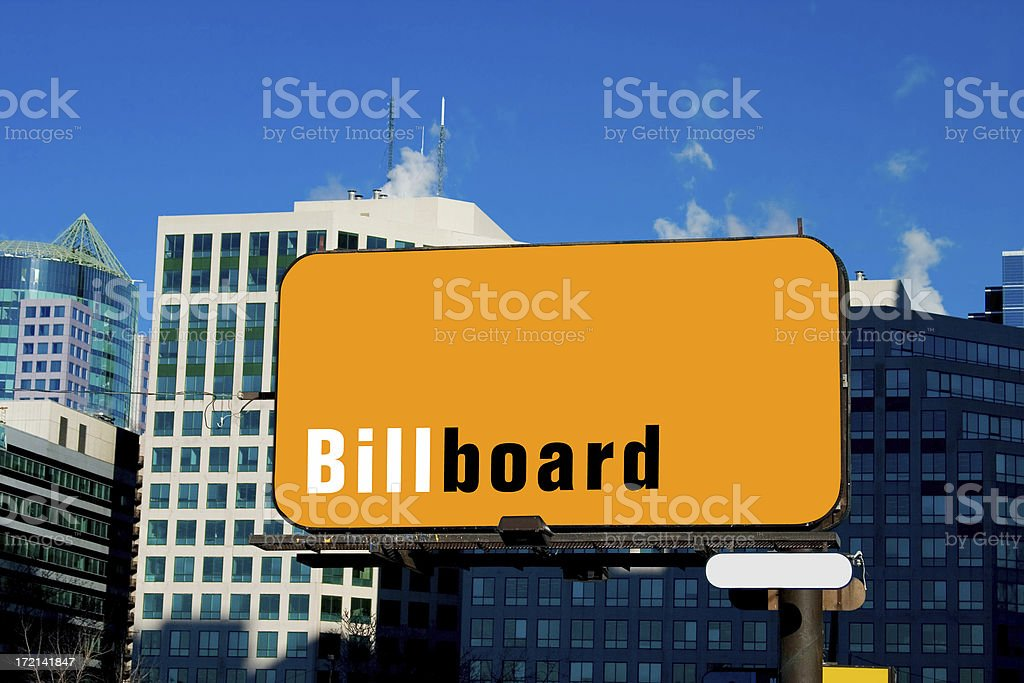 Billboard in the City royalty-free stock photo