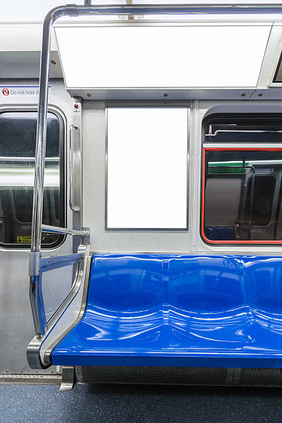 Billboard in the Subway cart. Billboard in the Subway cart. underground stock pictures, royalty-free photos & images