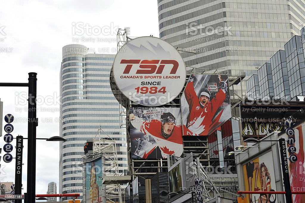 TSN billboard in Toronto royalty-free stock photo