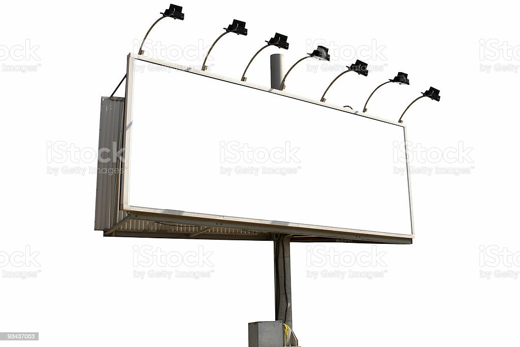 Billboard isolated with spotlights royalty-free stock photo