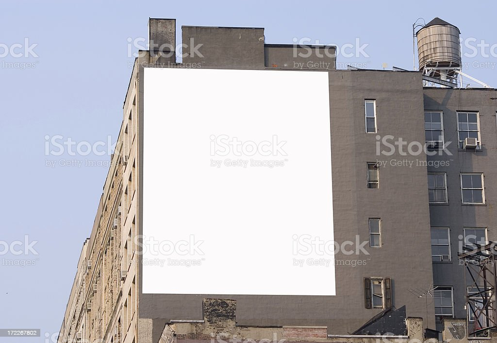 billboard - Manhattan stock photo