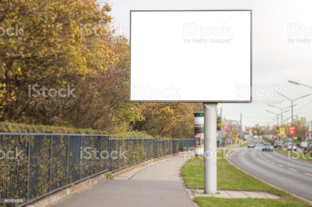 Billboard mock up stock photo