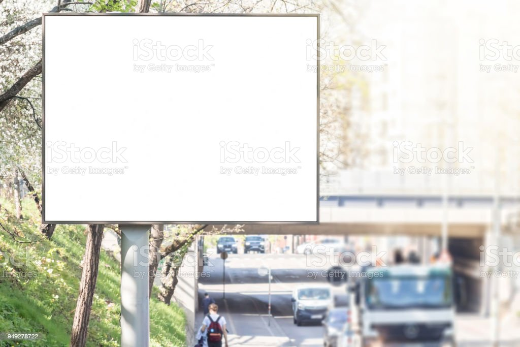 Billboard mock up sign stock photo