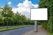 billboard mockup in german city