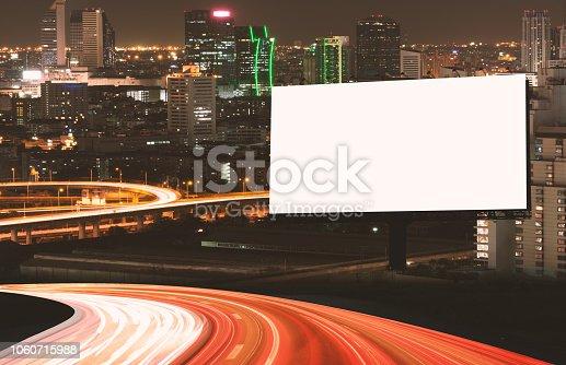 istock Billboard mockup outdoors 1060715988