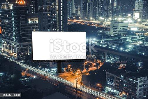 istock Billboard mockup outdoors 1060721934