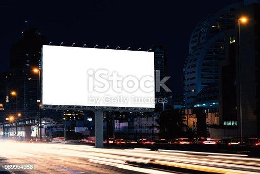 istock Billboard mockup outdoors 969954986