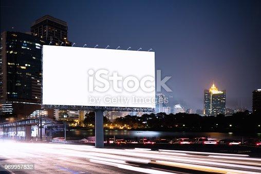 istock Billboard mockup outdoors 969957832