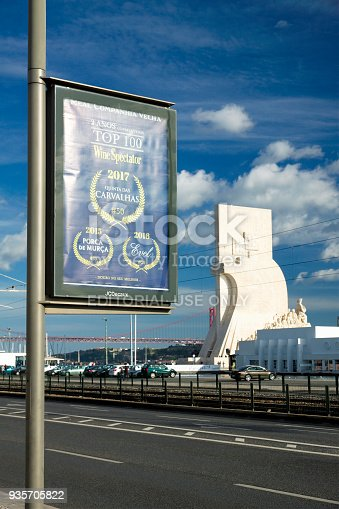 693455040 istock photo Billboard on a street lamp pole 935705822